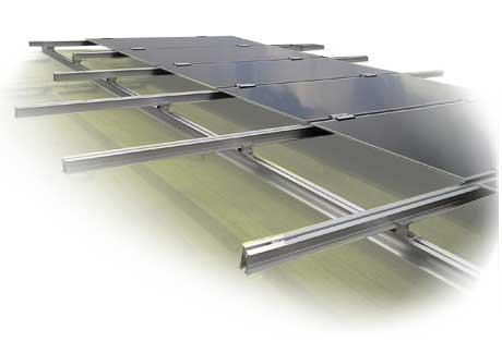 Estructuras para paneles solares en tejados inclinados OR-GRID, Solarstem