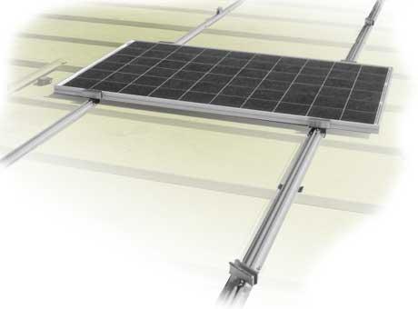 Estructuras para paneles solares en tejados inclinados OR-ROW, Solarstem