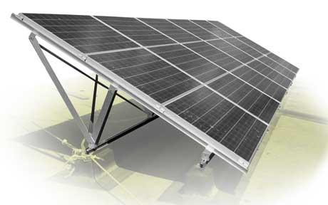 Estructuras para placas solares en cubiertas planas, sistema AF-FLAT, Solarstem