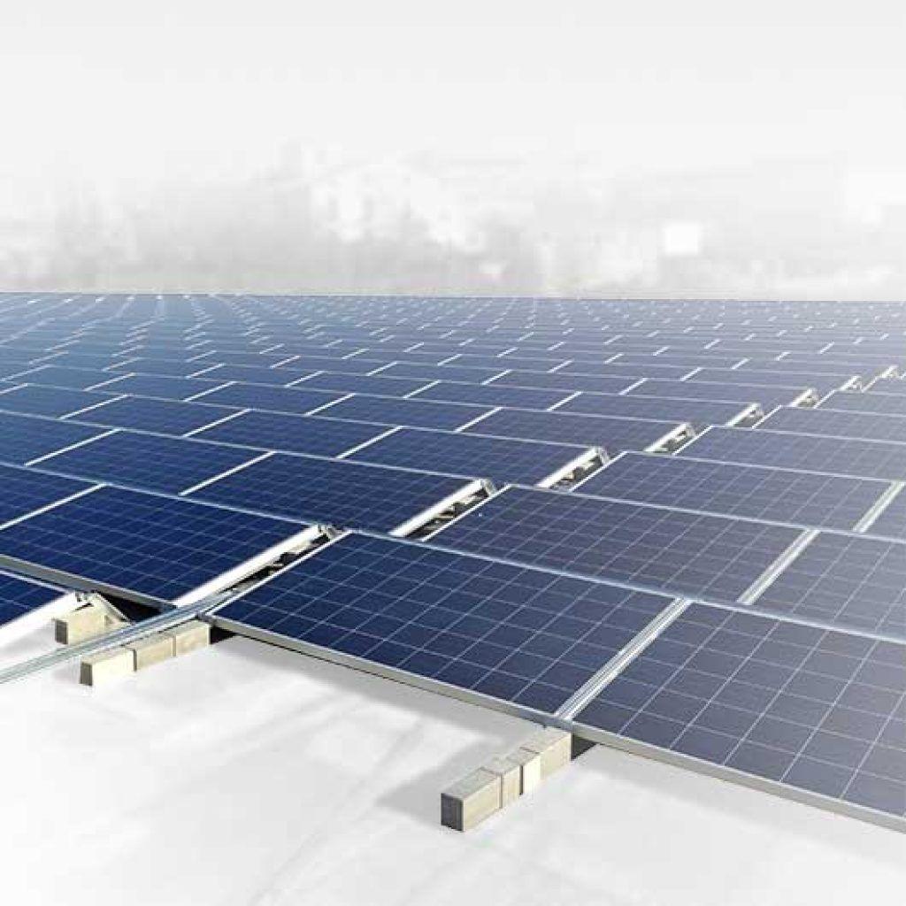 Estructuras para placas solares en cubiertas planas, Solarstem