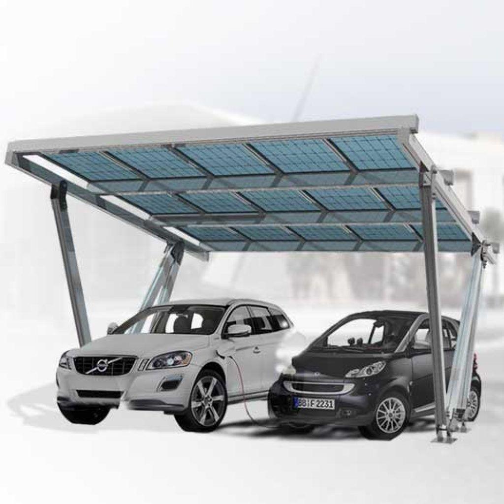 Marquesina fotovoltaica, parking para paneles solares, Solarstem