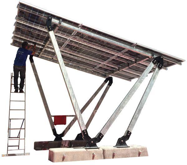 Marquesina fotovoltaica - pergola solar - parking - solarstem soportes placas solares