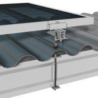 Estructura fotovoltaica para cubiertas de fibrocemento